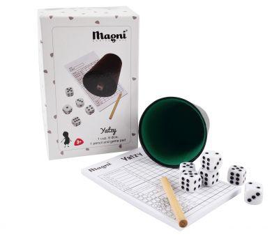 Magni Yatzy Spil Black/White