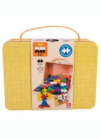 Plus Plus Big Suitcase Metal 70 PCS Yellow Basic